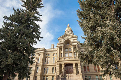 Photograph - Cheyenne Wyoming Capitol Building by Gregory Ballos