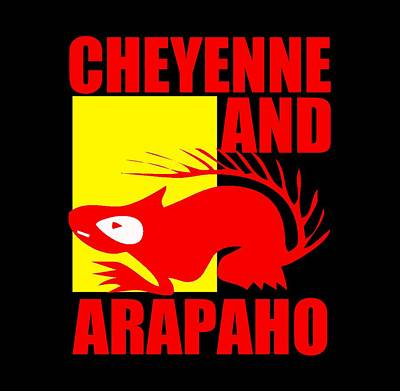 Arapaho Mixed Media - Cheyenne And Arapaho by Otis Porritt