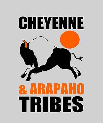 Arapaho Mixed Media - Cheyenne And Arapaho Tribes by Otis Porritt