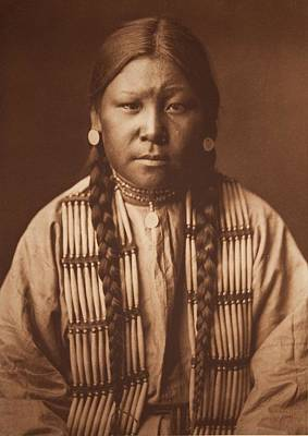 Cheyenne Girl 1905 , Native American By Edward Sheriff Curtis, 1868 - 1952 Art Print