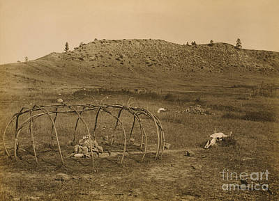 Cheyenne Indian Sweat Lodge Frame, 1910 Art Print by Science Source