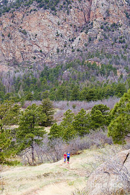 Steven Krull Royalty-Free and Rights-Managed Images - Cheyenne Mountain Trail Race Adventure Colorado Springs by Steven Krull