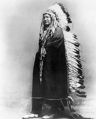 Cheyenne Headdress Photograph - Cheyenne Native American, C. 1878 by Granger