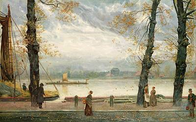 Canal Walk Painting - Cheyne Walk by Cecil Gordon Lawson