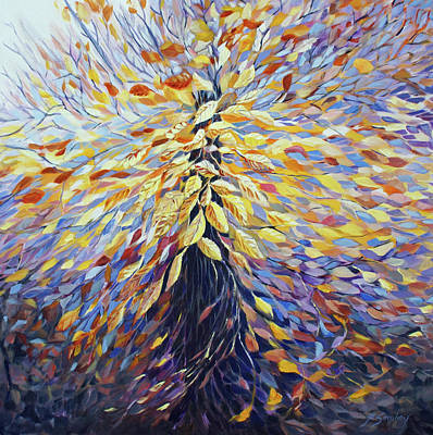 Painting - Chi Of The Mighty Tree by Joanne Smoley