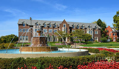 Photograph - Chi Omega Fountain by Catherine Sherman