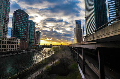 Photograph - Chi Sunrise 2 by D Justin Johns
