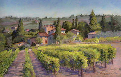 Painting - Chianti Vineyard by Vikki Bouffard
