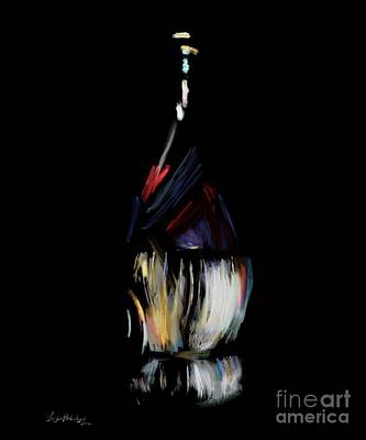 Italian Wine Drawing - Chianti's Seduction - Wine by Dillypop Artworks