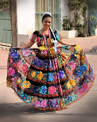 Chiapaneca Dress Art Print