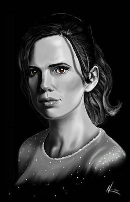 Digital Art - Chiaroscuro And A Beautiful Woman by Norman Klein