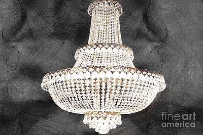 Chic Chandelier Black Art Print
