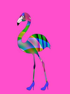 Digital Art - Chic Flamingo by Kathleen Sartoris