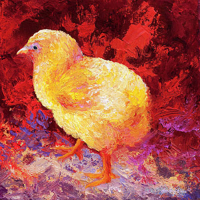 Chicks Painting - Chic Flic II by Marion Rose