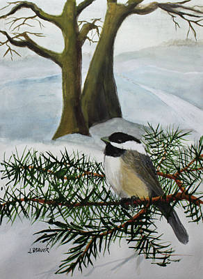 Painting - Chicadee  180126 by Jack G Brauer