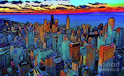 Photograph - Chicago 17118 by Ray Shrewsberry