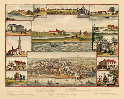 Photograph - Chicago 1779-1857 by Andrew Fare