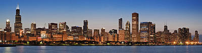 Schwartz Photograph - Chicago 2011 Skyline by Donald Schwartz