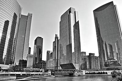 Photograph - Chicago 2017 Grayscale by Frozen in Time Fine Art Photography