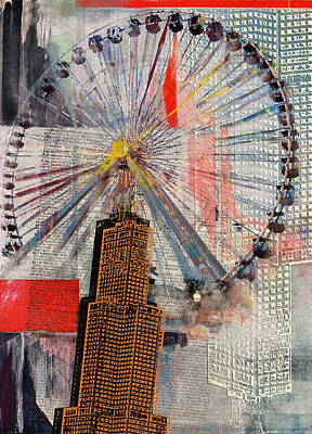 Painting - Chicago 211 3 by Mawra Tahreem