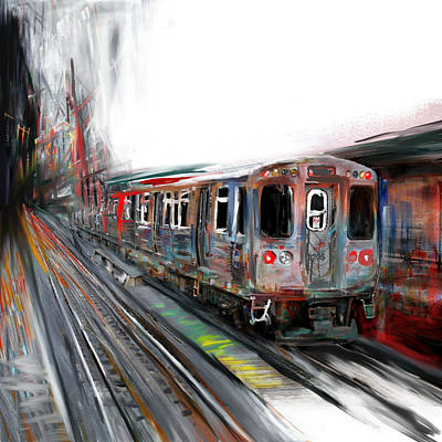 Painting - Chicago 212 2 by Mawra Tahreem