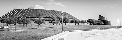 Adler Wall Art - Photograph - Chicago Adler Planetarium Black And White Panoramic Picture by Paul Velgos