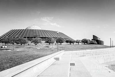Chicago Adler Planetarium Black And White Picture Art Print
