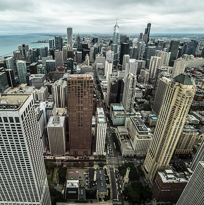 Photograph - Chicago Aerial by Ryan Heffron