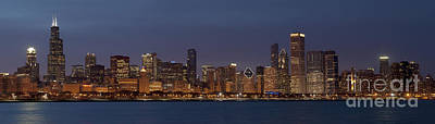Photograph - Chicago After Dusk by Sandra Bronstein