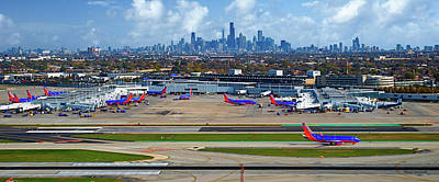 Chicago Airplanes 01 Art Print by Thomas Woolworth