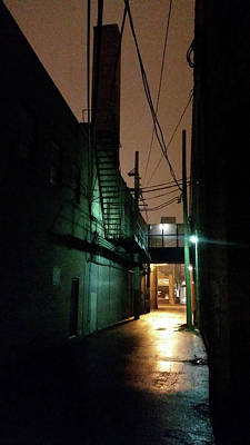 Photograph - Chicago Alley At Night by Zac AlleyWalker Lowing