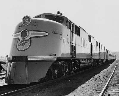 Photograph - Chicago And North Western Diesel Engine by Chicago and North Western Historical Society