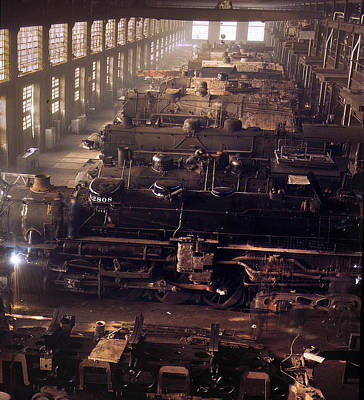 Painting - Chicago And North Western Railroad Locomotive Shops At Chicago by Artistic Panda