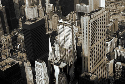 Photograph - Chicago Architecture - Downtown Skyline 1981 by Art America Gallery Peter Potter