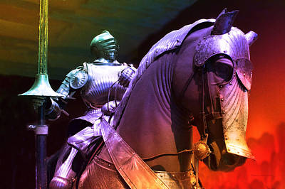 Chicago Art Institute Armored Knight And Horse Pa Prismatic Art Print by Thomas Woolworth