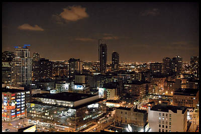 Photograph - Chicago At Night by Bill Howard