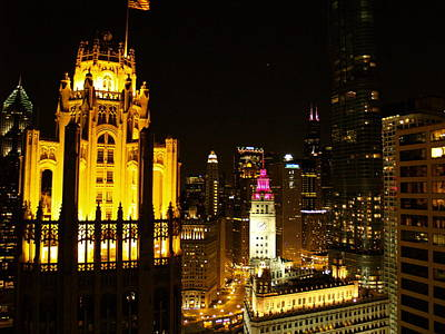Chicago At Night  Art Print by Jacob Stempky