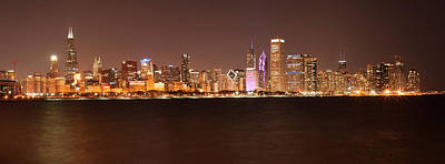 Photograph - Chicago At Night by Miguel Winterpacht