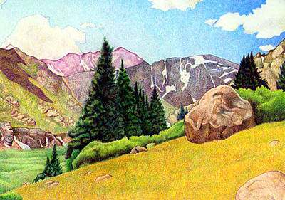 Drawing - Chicago Basin by Dan Miller