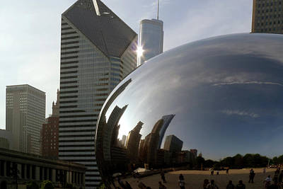 Photograph - Chicago Bean And Sun by Frank Winters