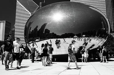 Photograph - Chicago Bean by Miguel Winterpacht