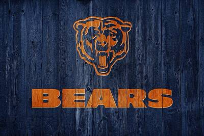 Digital Art - Chicago Bears Barn Door by Dan Sproul