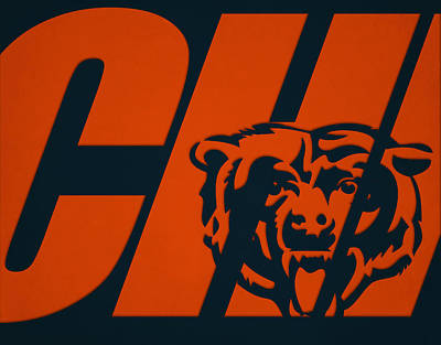 Photograph - Chicago Bears City Name by Joe Hamilton