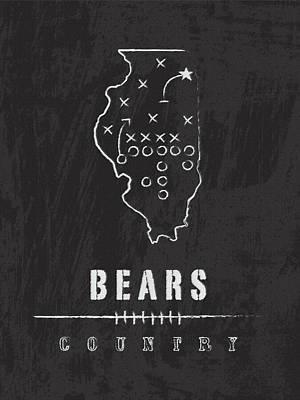 Chicago Bears Art - Nfl Football Wall Print Art Print by Damon Gray