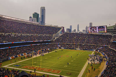 Photograph - Chicago Bears Soldier Field 7759 by David Haskett