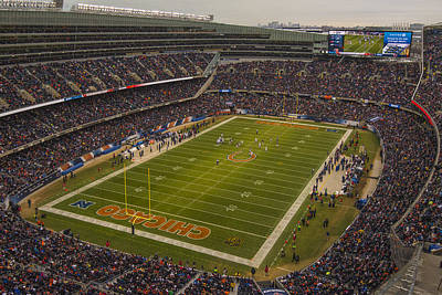 Photograph - Chicago Bears Soldier Field 7795 by David Haskett II