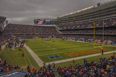 Photograph - Chicago Bears Soldier Field 7848 by David Haskett II
