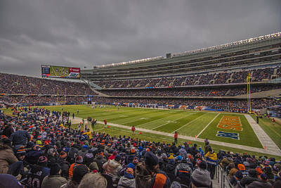 Photograph - Chicago Bears Soldier Field 7858 by David Haskett