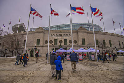 Photograph - Chicago Bears Soldier Field 7861 by David Haskett