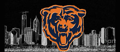 Photograph - Chicago Bears by Steven Parker